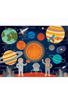 (Pre Order ) Petit Collage Floor Puzzle-Outer Space
