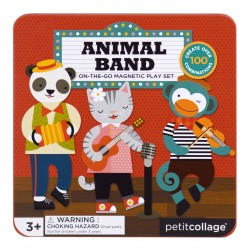 (Pre Order ) Petit Collage On-The-Go Magnetic Play Set -Animal Band