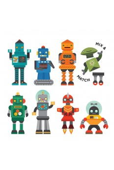 (Pre Order ) Petit Collage On The Go Play Set -Robot Remix
