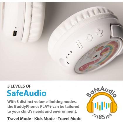 [ Ready Stock] BuddyPhones Play+   Kids Headphones (Wireless Bluetooth Volume)